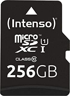 Intenso Micro SDXC 256GB Class 10 Speicherkarte inklusiv SD Adapter (UHS I)