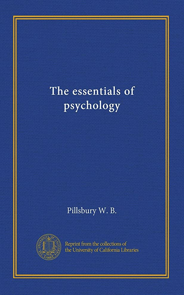 ホールド特にを除くThe essentials of psychology