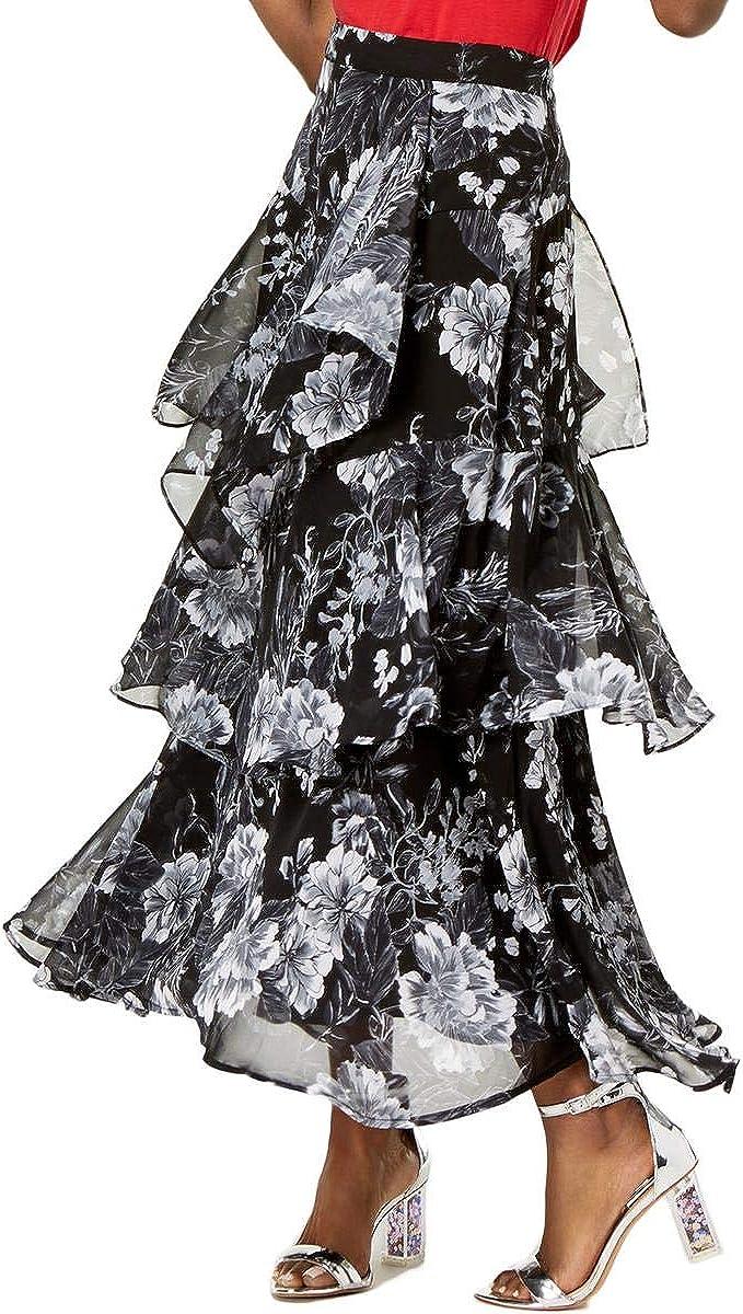I-N-C Womens Ruffle Maxi Skirt