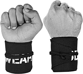 WOD Wear Wrist Wraps for Powerlifting,  Strength Training,  Bodybuilding,  Cross Training,  Olympic Weightlifting,  Yoga Support - One Size Fits All