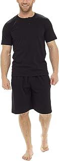 Tom Franks Mens Button Round Neck Cotton Jersey Short Pyjamas