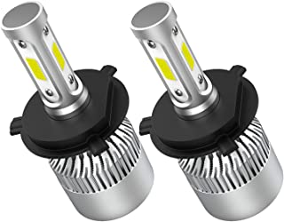 Crownova H4 Led Headlight Bulbs, S2 Series Flip Cob Chips, 3600lm Hi/Lo Beam, 6500k Cool Daylight (H4 9003 HB2)