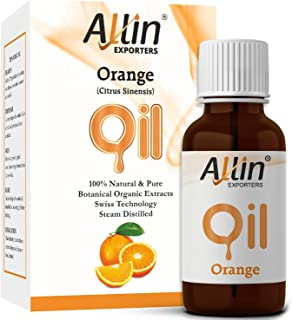 Allin Exporters Orange Oil - Pure , Natural & Undiluted - 15 Ml