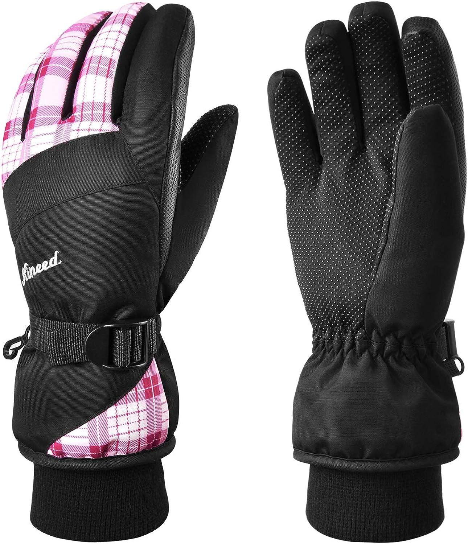 KINEED Waterproof Ski Max 80% OFF Gloves Touchscreen Winter 5% OFF 3M Wa Thinsulate