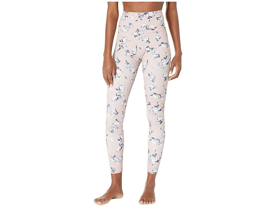 Beyond Yoga Olympus High-Waisted Midi Leggings (Impressionist Floral Blush) Women