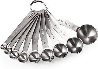 Best Measuring Spoons: U-Taste 18/8 Stainless Steel Measuring Spoons Set of 9 Piece: 1/16 tsp, 1/8 tsp, 1/4 tsp, 1/3 tsp, 1/2 tsp, 3/4 tsp, 1 tsp, 1/2 tbsp & 1 tbsp Dry and Liquid Ingredients Review