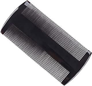 Hair Combs 1 Pieces Horned Comb Handmade Fine Toothed Comb Anti-Static Massage Scalp for Hair Long Hair and Curly Hair (Bl...