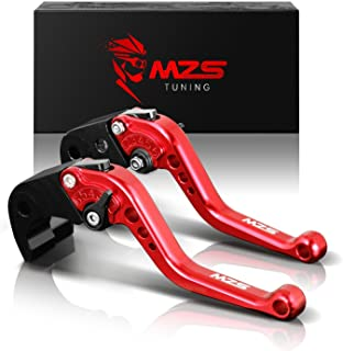 MZS オートバイ ブレーキ クラッチ レバー 6段調整 CNC レッド 用 ホンダ CBR 600 F2 F3 F4 F4i CBR900RR CB599 CB600 CB750 CB919 VTX1300 NC700X NC700S AX-...