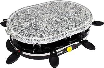 Zanussi - RCZ32 - Appareil à raclette multifonctions - 4 in 1 Raclette, grill, crêpière et cuisson pierre - 8 personnes - ...