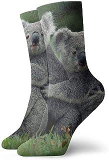 hdyefe, Skewed Koalas - Calcetines Unisex Divertidos para Vestir, Coloridos, Divertidos, novedosos, con tripulación, 30 cm (11,8 Pulgadas)
