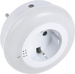 Meister Led-nachtlampje, 0,5 W, 3 verschillende kleurmodi, extra sleuf, met schemeringssensor, voor hal en kelder, energie...