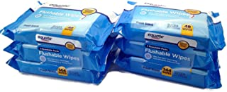 Equate Flushable Wipes 6-Pack (288 Wipes Total)