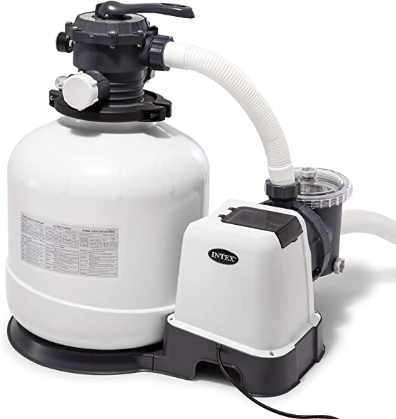 Intex Krystal Clear Sand Filter Pump For Above Ground Pools 16 Inch 110 120V With GFCI
