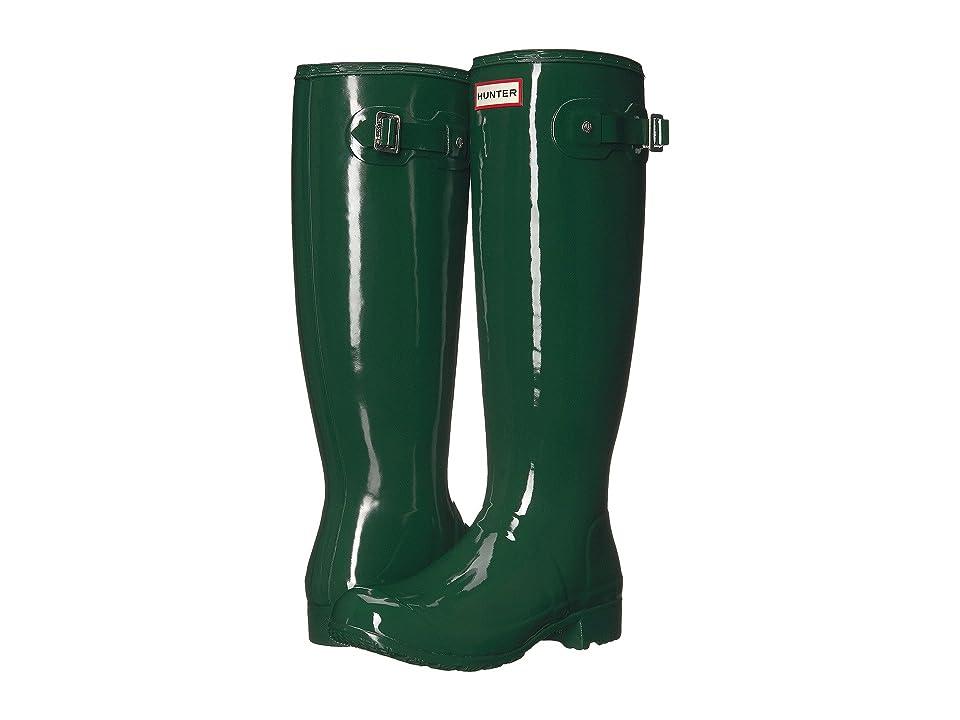 Hunter Original Tour Gloss Packable Rain Boot (Hunter Green) Women