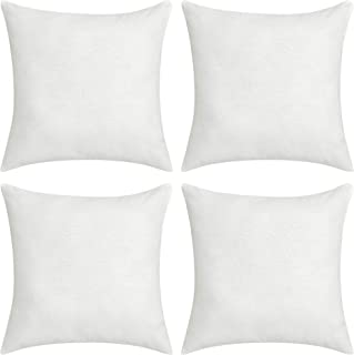 Deconovo Soft Cushion Covers Faux Linen Blank Pillow Covers Throw Pillow Cases for Sofa 18x18 Inch Off White Set of 4 Case Only No Insert