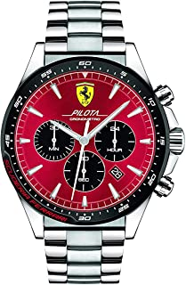 Ferrari Pilota Men's Red Dial Leather Watch - 830619