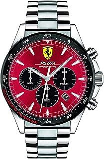 Scuderia Ferrari MEN'S RED DIAL STAINLESS STEEL WATCH - 830619