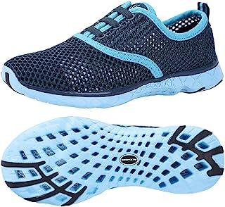 ALEADER Women's Quick Drying Aqua Water Shoes Blue 7 D(M) US/FR 37