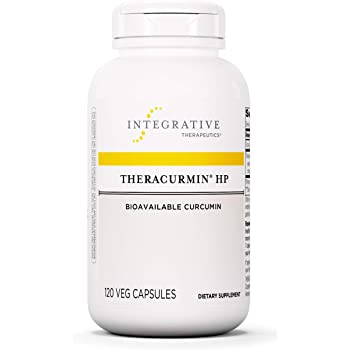 Theracurmin HP - Turmeric, Curcumin Supplement - 27x More Bioavailable - High Absorption Turmeric - Relief of Minor Pain Due to Occasional Overuse - Vegan - 120 Capsules - Integrative Therapeutics