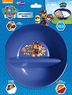 Nickelodeon, Paw Patrol - Anti Soggy Cereal Bowl for Keeping your Cereal Crunchy - Just Crunch Never Soggy Bowls for Cerea...