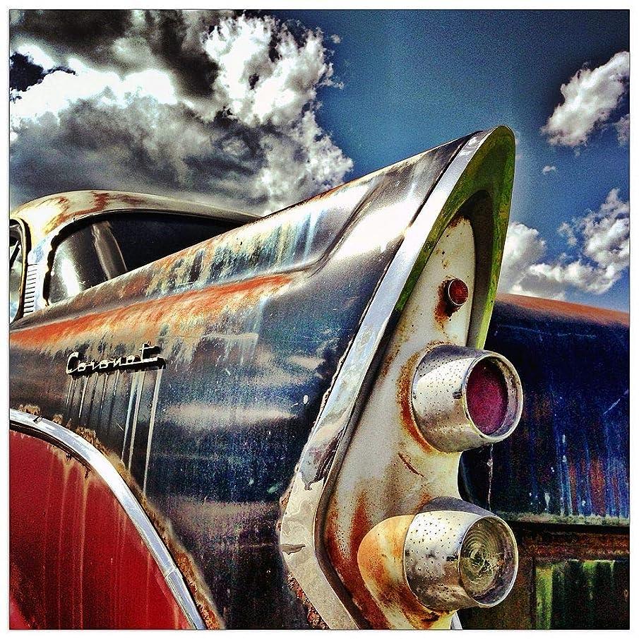 ArtPlaza TW92444 Art Studio Old car Decorative Panel, 15.5x15.5 Inch, Multicolored
