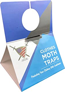 Clothes Moth Traps for Closet Clothing - Moths Protection with Unique Hanging Design, Protect with Non Toxic Formula That is Safe for Your Family and Long Lasting. Protect and Defend. (6 Pack)