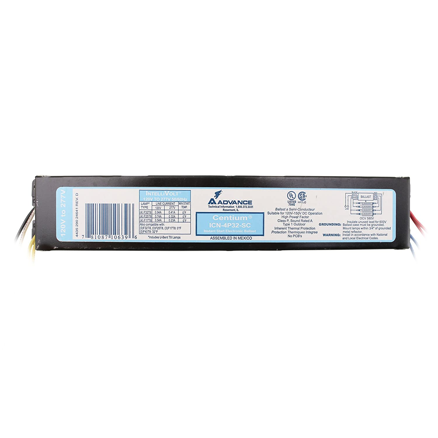 Advance ICN-4P32-SC Electronic OFFicial Omaha Mall Fluorescent 4 32W Ballast Lamp