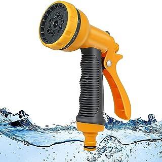 Garden Hose Pipe Spray Gun Set ,10 Adjustable Patterns Hose Nozzle, High-Pressure Anti-Slip Water Hose Spray Gun for Plant...