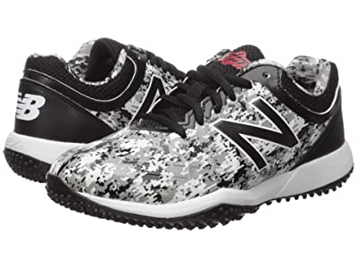New Balance Kids 4040v5 Turf Baseball (Little Kid/Big Kid) (Pedroia Camo Black) Kids Shoes