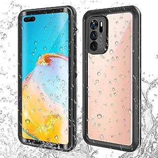 AICase för Huawei P40 vattentätt fodral, heltäckande fodral med inbyggt skärmskydd, stötsäkert sandsäkert fodral för Huawe...