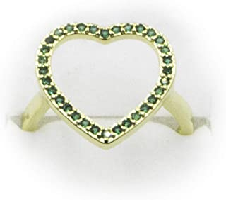 USHOP Jewelry Heart Ring 18K Gold Plated Cubic Zirconia Gifts for Women and Girls