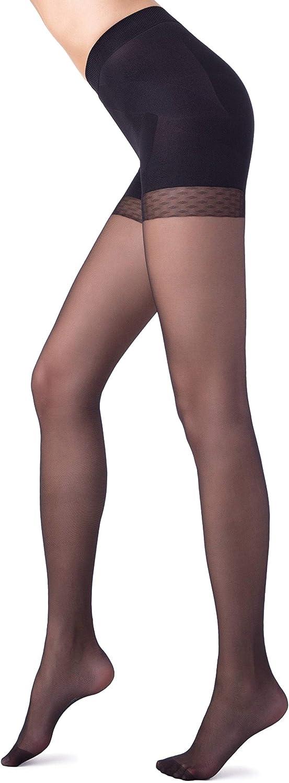 Conte High Waist Control Top Shaping Semi Opaque Pantyhose Tights X-Press 40 Den