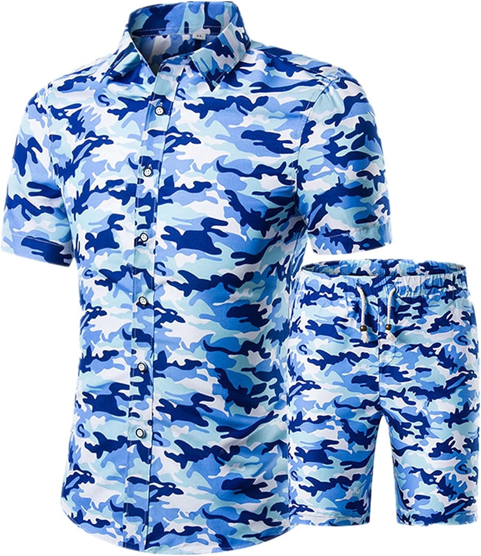 Summer Mens Fashion Gold Luxury Shirts for Men Set Hawaiian Beach Floral Print Male Short Sleeve Club Shirt Tops