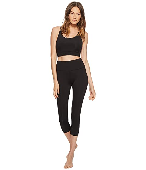 Kate Spade New York Athleisure Scallop Crop Leggings Black Cheap Sale Get Authentic Sale Cheap Online Discount Price Aberdeen Cheap Collections wExficT