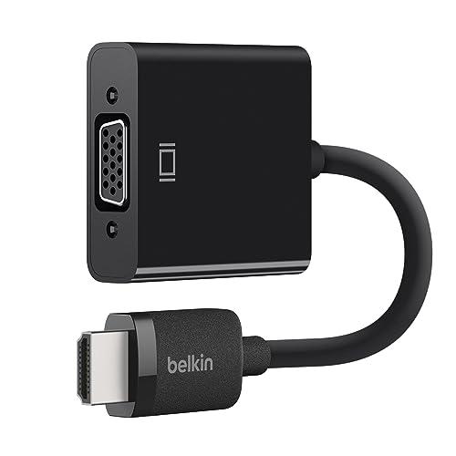 Belkin - AV10170bt - Adaptateur HDMI (Mâle) vers VGA (Femelle) avec Alimentation Micro-USB et Prise en Charge Audio 3,5 mm (Compatible 1080p Full HD et Apple TV) - Noir