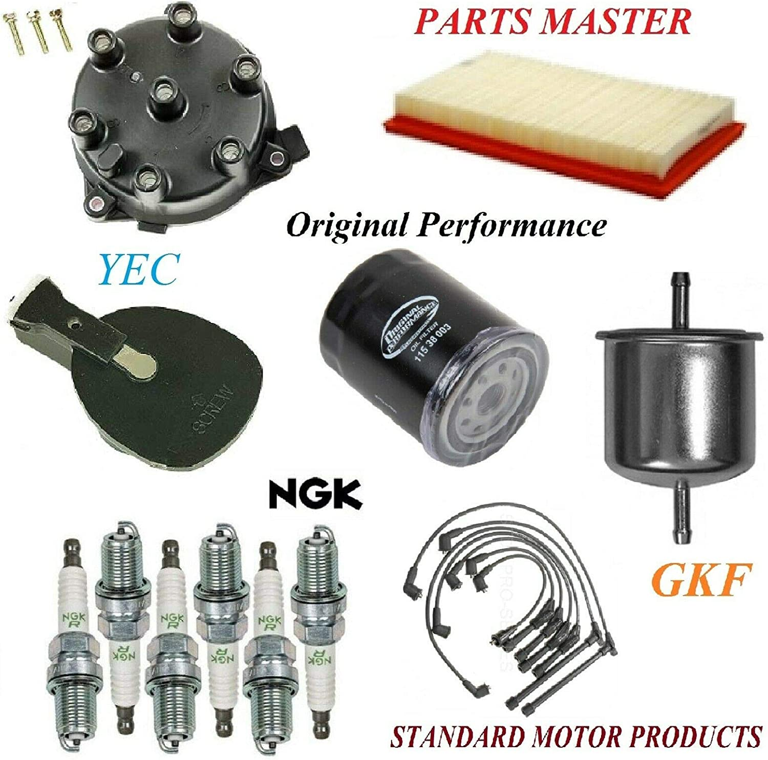 8USAUTO Tune Up OFFicial store Kit Air Oil Fuel Wire Pl Spark Filters Rotor Cap New products, world's highest quality popular!