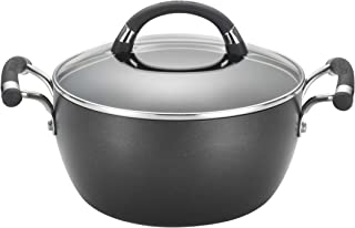 Circulon Espree Hard Anodized Nonstick Dish/Casserole Pan with Lid, 4.5 Quart, Black