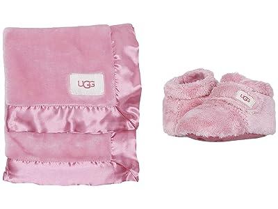 UGG Kids Bixbee Bootie and Lovey Blanket Set (Infant/Toddler) (Bubblegum) Girls Shoes