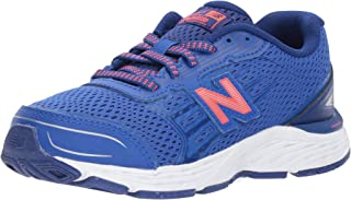 New Balance Boys' 680v5 Running Shoe, Pacific/Dynomite
