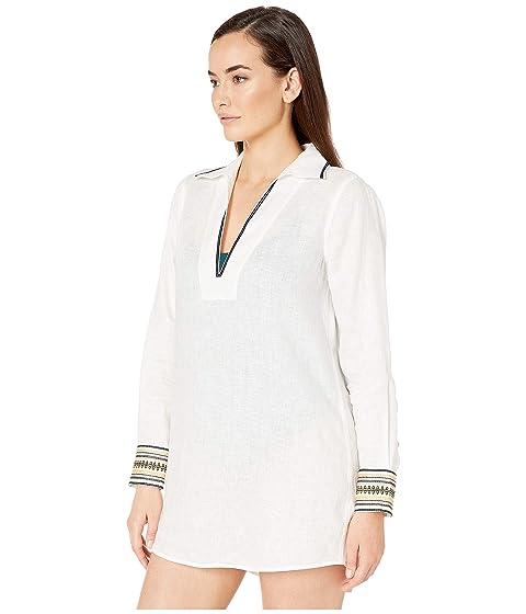 69385a5c57 Tory Burch Swimwear Embroidered Beach Shirt at Luxury.Zappos.com
