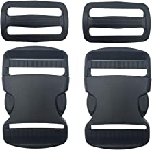 Coopay 15 Pack Buckle Adjustable Buckles Plastic Side Release Buckles 5//8 Inch,Black