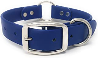 Waterproof Dog Collar with Heavy Duty Center Ring   Dog Collar for Small, Medium, Large, or XL Dogs