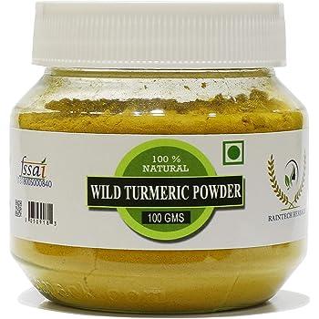 RT Fresh Wild Turmeric Powder/Kasthuri Manjal Powder/Kasthuri Haldi Powder/Curcuma Aromatica/Jangli Haldi For Skin Whitening,100Gm