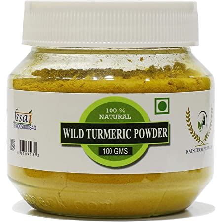 RT Fresh Wild Turmeric Powder/Kasthuri Manjal Powder/Kasthuri Haldi Powder/Curcuma Aromatica/Jangli Haldi For Skin Glowing (100 Gram)
