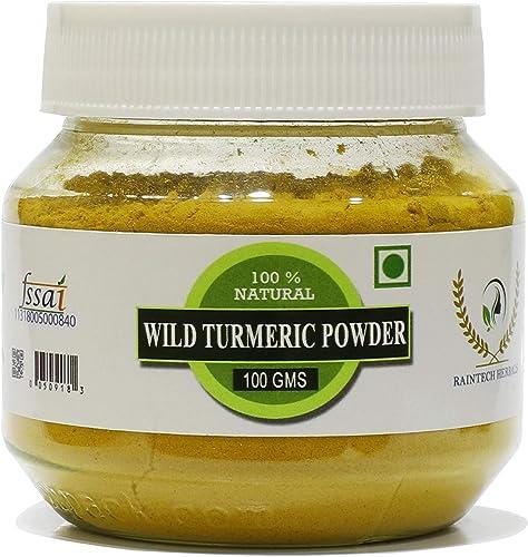 RT Fresh Wild Turmeric Powder/Kasthuri Manjal Powder/Kasthuri Haldi Powder/Curcuma Aromatica/Jangli Haldi For Skin Wh...