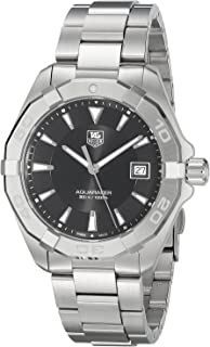 TAG Heuer Men's Aquaracer Quartz Watch with Stainless-Steel Strap, Silver, 20 (Model: WAY1110.BA0928)
