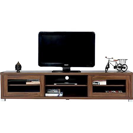 DeckUp Muvo TV Stand and Engineered Wood TV Entertainment Unit Walnut , 2 Doors