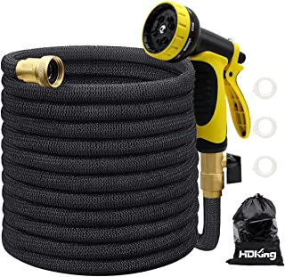"""25FT Garden Hose Expandable, Water Collapsible Hose with 10 Function Spray Nozzle, Triple Latex Core, 3/4"""" Solid Brass Con..."""
