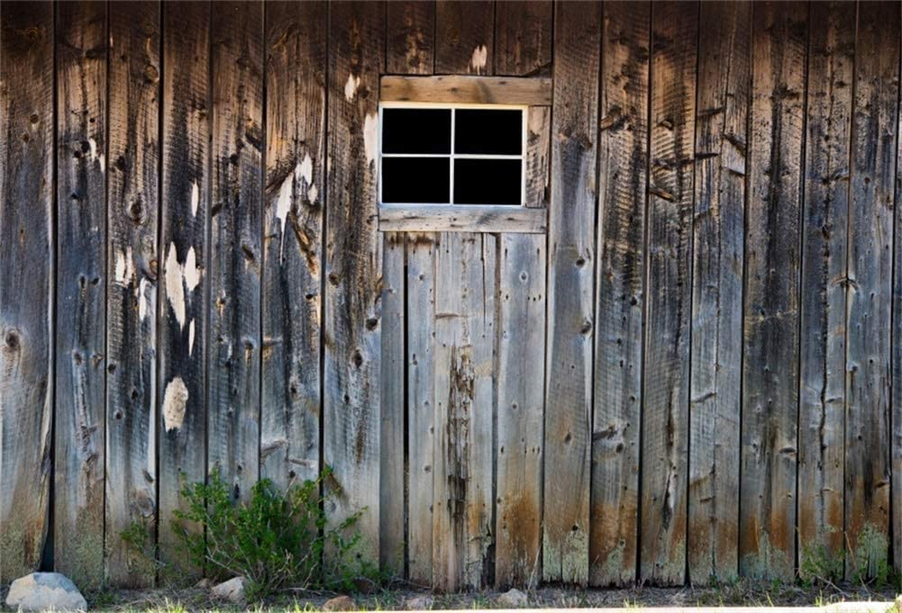 10x7ft Rustic Red Wooden Barn Wall Small Window Vinyl Photography Background Western Life Cowboy Farmer Portrait Shoot Backdrop Countryside Rural Studio Props