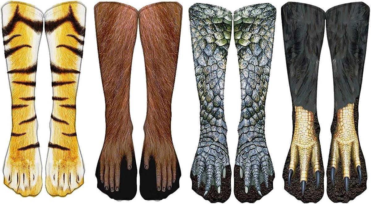 WODECASA Mens Novelty Crazy Tulsa Mall Socks Boys 3D Graph Max 86% OFF Funny Print Cool